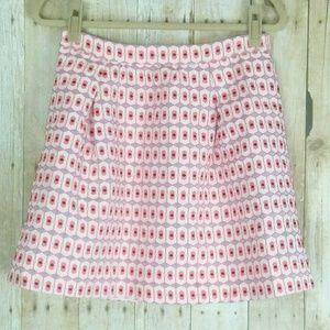 J.Crew Orange Geometric Jacquard Skirt Size   (4)